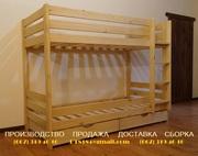 Кровать двухъярусная с 2-ящиками