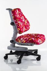 Детское кресло Mealux Y-818 RZ обивка красная с листочками